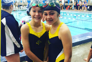 PCA North swimmers-the school's first student athletes.